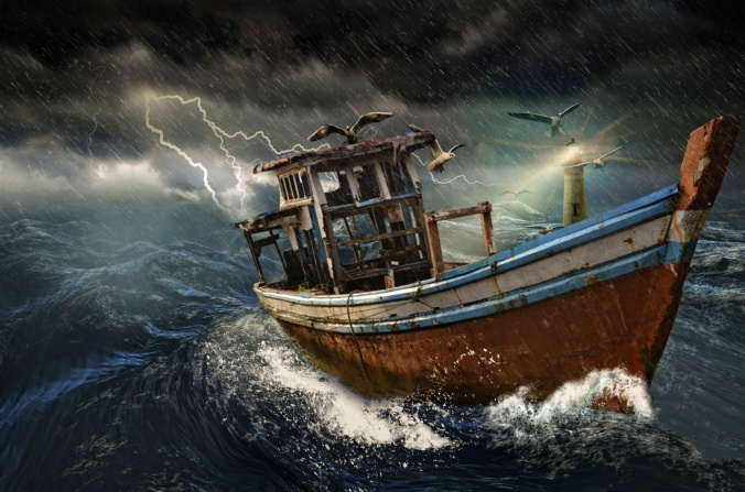 old-boat-in-storm
